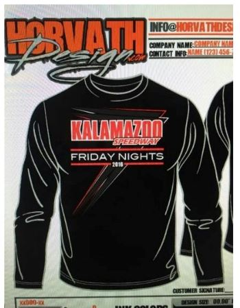 "New ""Friday Night"" Kalamazoo Speedway Hoodie's Sold Out Early!"