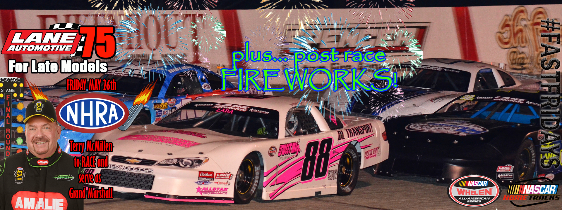 5 in 1 NASCAR Racing Program - NHRA Night @ the Zoo Featuring Terry McMillen