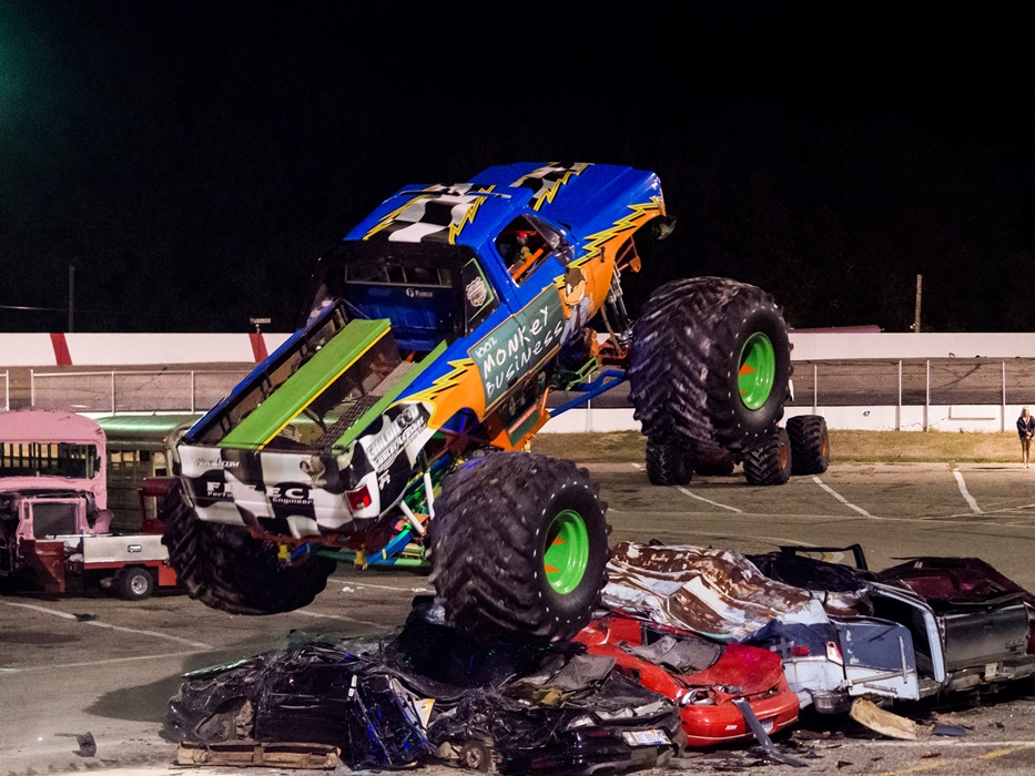 RED, WHITE & BOOM! - Family Fun With Stunts - Mayhem - Monster Trucks - Bus Races - Trailer Races - Scarecrow - Monster Truck & Bus Rides - HUGE FIREWORKS DISPLAY